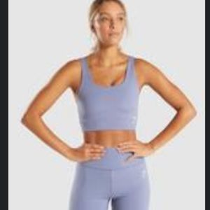 pastel blue gym shark medium sports bra